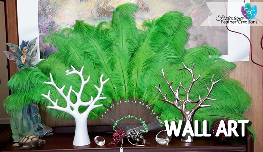 Feather Fan Wall Art - Fantastique Feather Creations | Hunter Valleys Australia