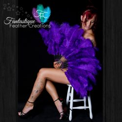 Purple Burlesque Fan Made in Australia