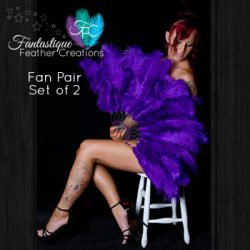Purple Burlesque Fan Pair Made in Australia