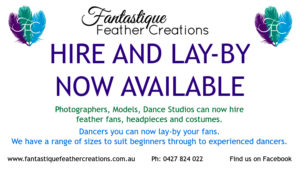 Burlesque Feather Fan Hire and Lay-by
